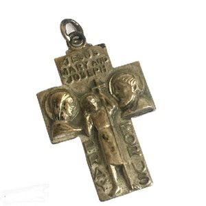Vintage Saint Christopher Catholic Medal Pendant